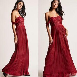 Soieblu Crochet Off-the-shoulder Gown